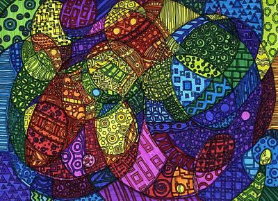 Swirly Drawing - Lover's Quarell by Sarah Davis