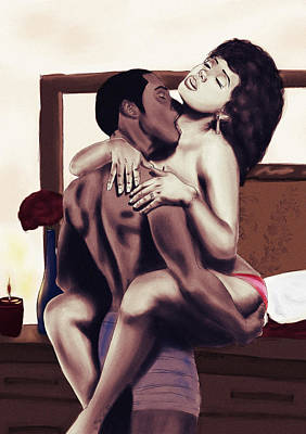 Lovers Sensual Love Print by Kenal Louis