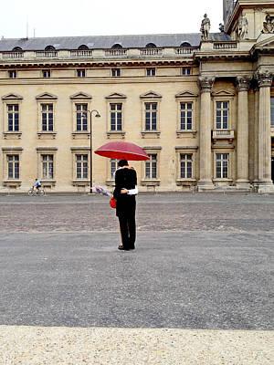 Photograph - Lovers Under An Umbrella In Paris by Barbara Budish