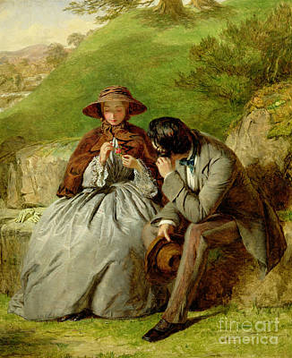 Boyfriend Painting - Lovers by William Powell Frith