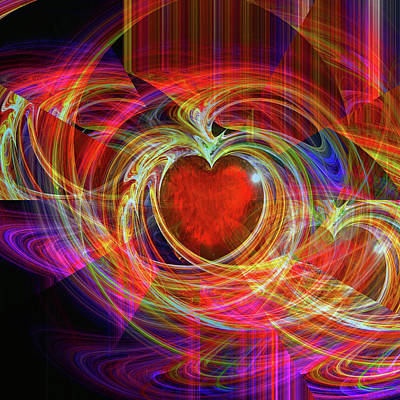 Hearts Digital Art - Love's Joy by Michael Durst