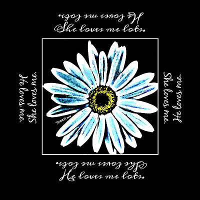 Loves Me In Blue Art Print