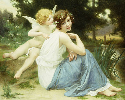 Floating Girl Painting - Love's Whisper by Guillaume Seignac