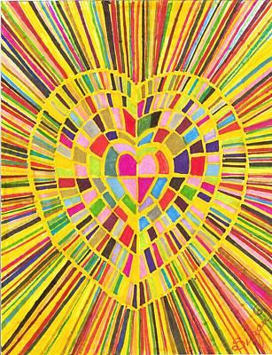 Loveshine Art Print by Brenda Adams