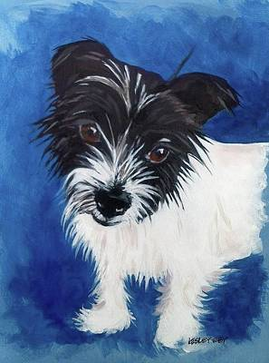 Wag Painting - Lovey by Lesley Eby