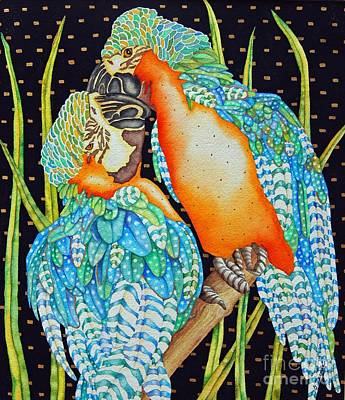 Loving Birds Art Print by Gail Zavala