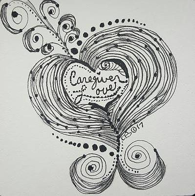 Drawing - Loving by Carole Breccht