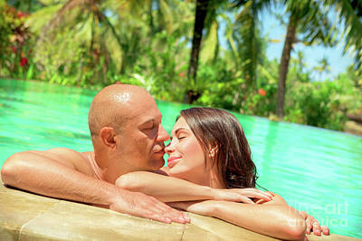 Photograph - Loving Couple In A Pool by Anna Om