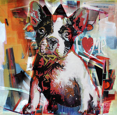 Chin Up Painting - Loving Dog 44c by Gull G