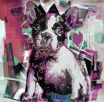 Chin Up Painting - Loving Dog 66n by Gull G