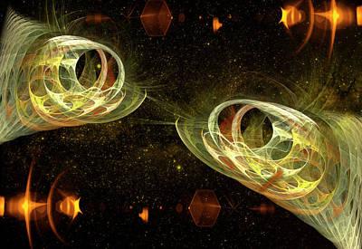 Loving Digital Art - Loving Fish Couple by Ivanoel Art