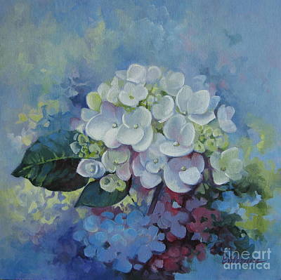 Loving Hydrangea Art Print by Elena Oleniuc