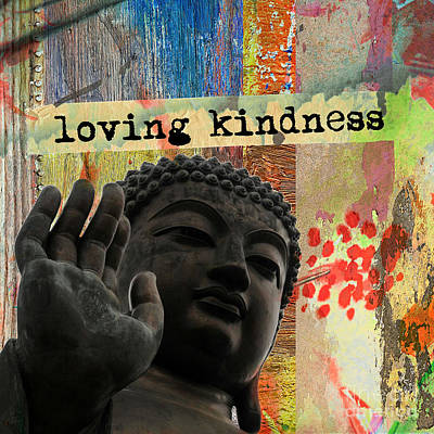 Mixed Media - Loving Kindness. Buddha by Lita Kelley