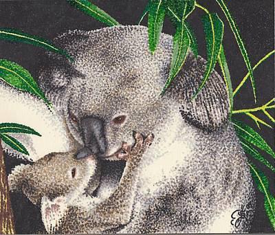 Loving Kiss Art Print by Scarlett Royal
