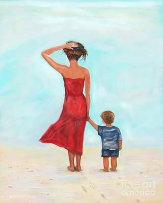 Painting - Loving My Little Man by Leslie Allen