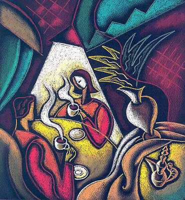 Intimacy Painting - Loving Relationship by Leon Zernitsky