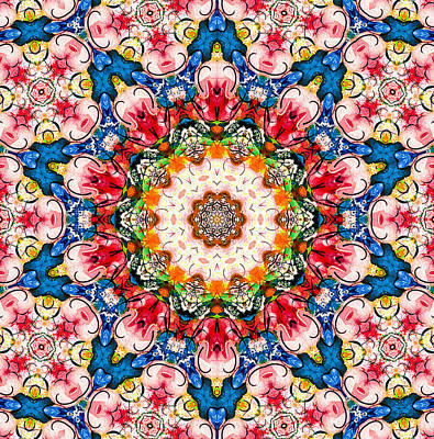 Mixed Media - Loving Rose Mandala by Natalie Holland