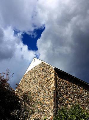 Photograph - Loving Sky Over Tyler Arboretum Stone House by Susan Hendrich