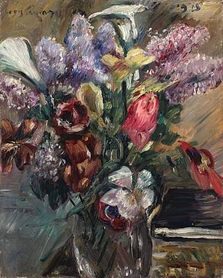 Still Life Painting - Lovis Corinth 1858 Tapiau Ostpreuben  1925 Zandvoort Holland Still Life With Lilac Calla And Tuli by Celestial Images