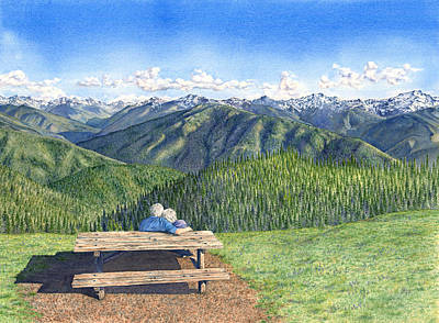 Olympic National Park Painting - Lov'n The Olympics by Julie Senf