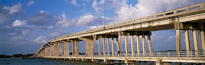 Florida Bridge Photograph - Low Angle View Of A Bridge, Marco by Panoramic Images