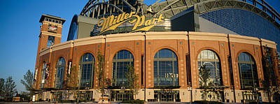 Miller Park Photograph - Low Angle View Of A Stadium, Major by Panoramic Images