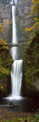 Autumn Scenes Photograph - Low Angle View Of A Waterfall by Panoramic Images