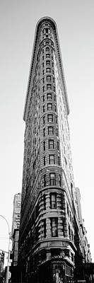 Medium Group Of People Photograph - Low Angle View Of An Office Building, Flatiron Building, Manhattan, New York City, New York State by Panoramic Images