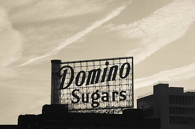 Baltimore Inner Harbor Photograph - Low Angle View Of Domino Sugar Sign by Panoramic Images