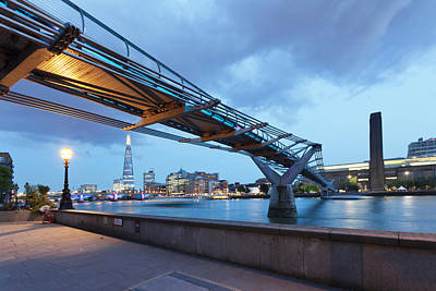 Renzo Piano Photograph - Low Angle View Of Millennium Bridge by Panoramic Images