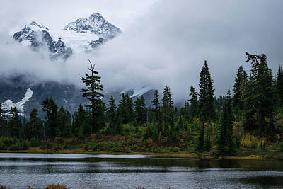 Photograph - Low Clouds On Mt Shuksan by Tom Cochran