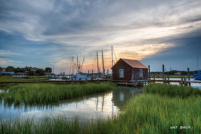 Photograph - Low Country Boathouse by Walt Baker