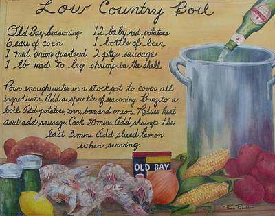 Low Country Boil Art Print by Paula Robertson