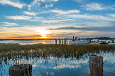 Photograph - Low Country Evening - Folly Beach Sc by Donnie Whitaker