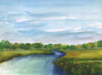 Painting - Low Country Marsh by Frank Bright