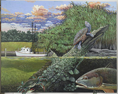 Diamondback Painting - Low Country by Mike Nolan