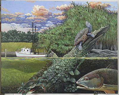 Diamondback Painting - Low Country by Mike Nolan
