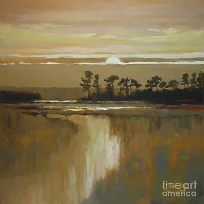 Blackbeard Painting - Low Country Moon Rise by Kip Decker