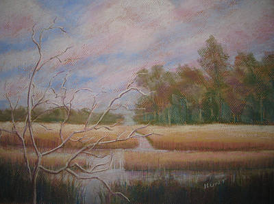 North Sea Painting - Low Country by Shirley Braithwaite Hunt