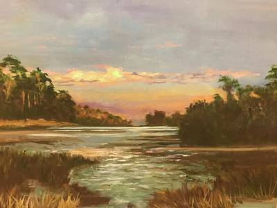 Painting - Low Country Sunset by Gloria Smith