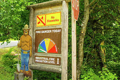 Photograph - Low Fire Danger Today by Tom Cochran