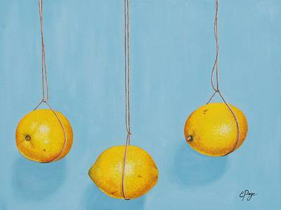Low Hanging Lemons Art Print by Emily Page