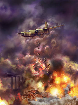 Digital Art - Low Level Hell by Dave Luebbert