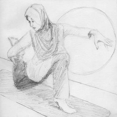 Empower Drawing - Low Lunge by Robert Alexander