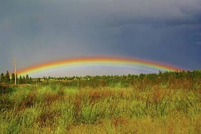 Photograph - Low Lying Rainbow by Ben Upham III