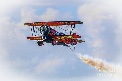 Photograph - Low Pass Biplane by Tom Claud
