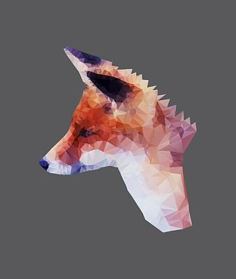 Digital Art - Low Poly Fox by Jennifer Phillip