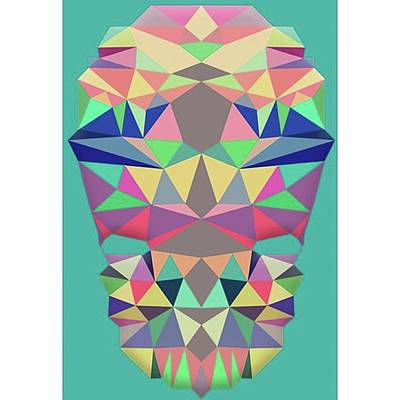 Pop Art Wall Art - Photograph - Low Poly Of My Face!! (gone by Sidharth Ezhilan