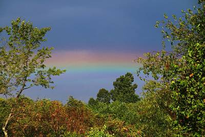 Photograph - Low Rainbow 1 by Kathryn Meyer
