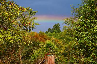Photograph - Low Rainbow 2 by Kathryn Meyer